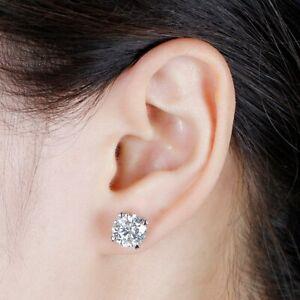 4Ct-Round-Moissanite-Heart-Prong-Solitaire-Stud-Earrings-14K-White-Gold-Finish