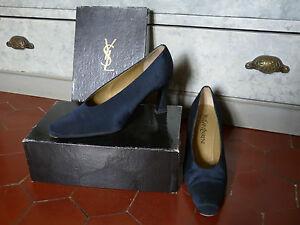 Vintage Blu Scarpe Www Laurent Saint 38 I T F Condizioni 37 Yves perfette HFqHwUZ4