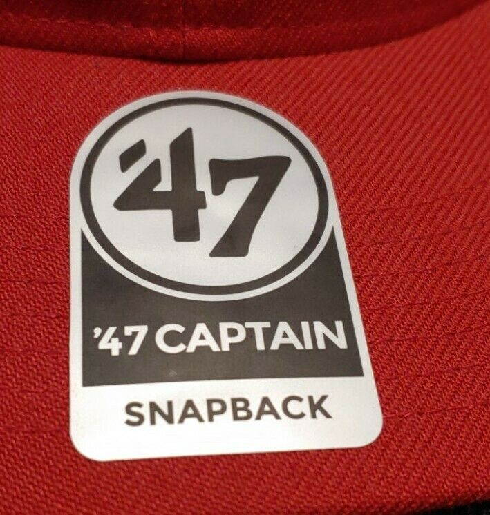 Forty Seven 47 Captain Snapback Red On Red Washin… - image 5