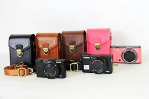 Hard-camera-leather-case-bag-cover-pouch-for-Olympus-Tough-TG-5-TG-4-TG5-TG4