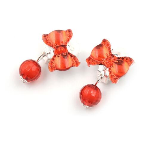 7Pairs//Box Lovely Earrings Clip-On No Pierced Pendant Design For Children Kid LD