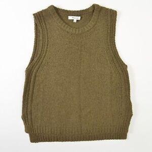 936c0616ad Madewell Sweater Vest Merino Wool Alpaca Nylon Green Womens Small S ...