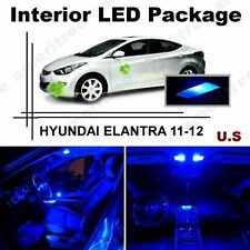 Blue LED Lights Interior Package Kit for Hyundai Elantra 2011-2012 ( 8 Pieces )