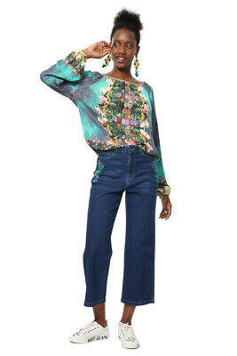 Desigual Carola Blouse Floral Multicoloured Gypsy XS-XXL UK 8-18 RRP �64