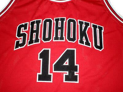 SHOHOKU #14 HISASHI MITSUI SLAM DUNK BASKETBALL JERSEY QUALITY NEW SEWN ANY SIZE