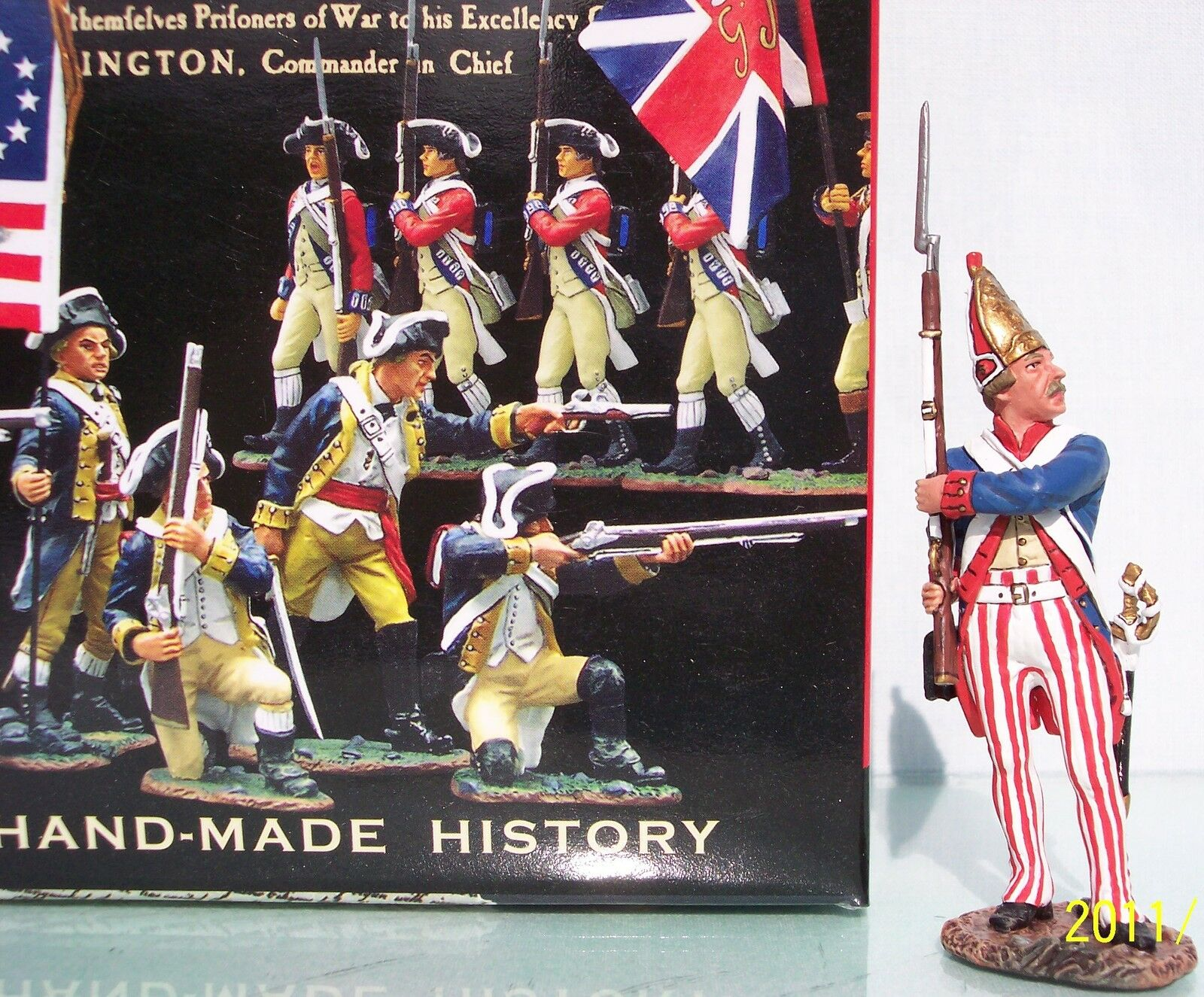 KING & COUNTRY BRITISH REVOLUTIONARY BR074 HESSIAN MAKING READY MIB