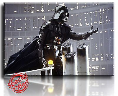 Wall Art Canvas Picture Print of Star Wars Darth Vadar Framed  Ready to Hang