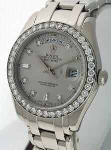 rolex pearlmaster masterpiece 95 500 00 platinum gent s 40mm