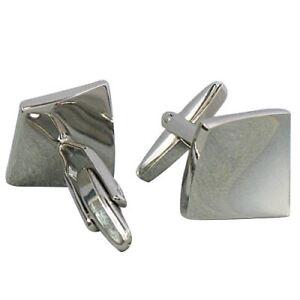 1-paire-Hommes-Boutons-de-Manchette-en-Acier-Inoxydable-d-039-Argent-Z9F8