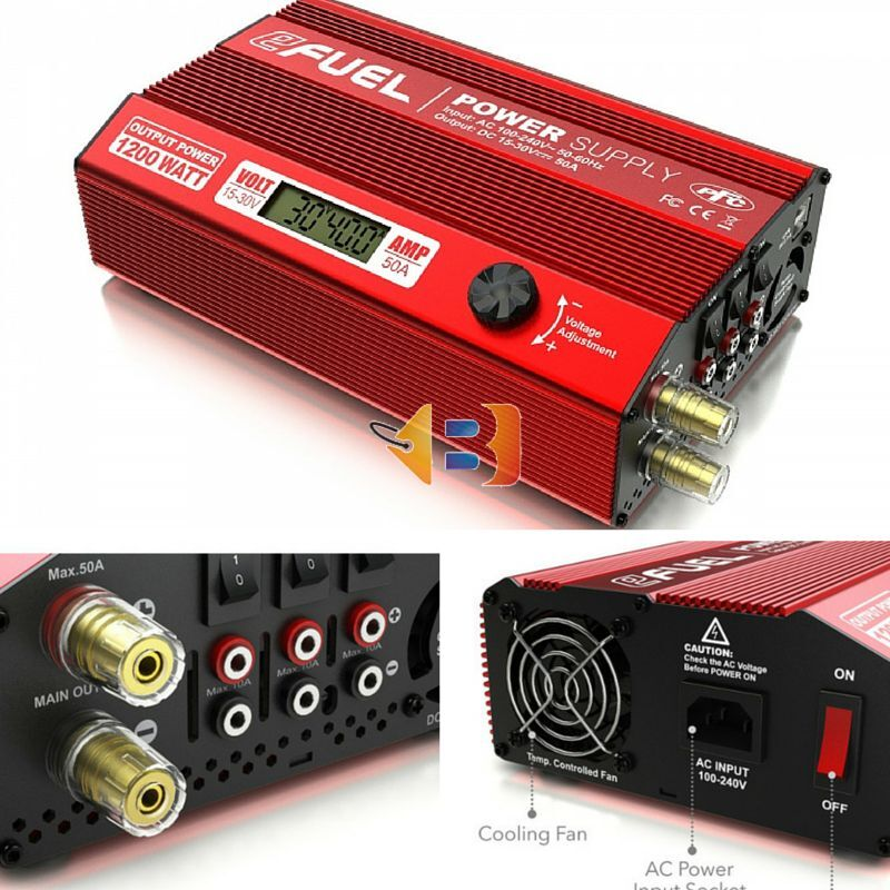 wholesape economico cieloRC eFUEL 1200W 50A energia Supply Charger Adjustable Output Voltage Voltage Voltage 15-30V RC  100% di contro garanzia genuina