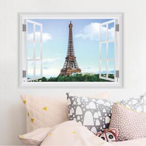 Eiffel Tower Wall Sticker 3D Decal Wallpaper Mural Art ...  Eiffel Tower Wa...