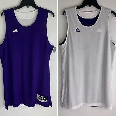 adidas Reversible Mesh Jersey Men's L Large Basketball Purple and ...