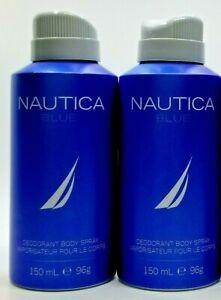 NAUTICA BLUE Deodorant Body Spray For Men 5.0oz 150ml * New *
