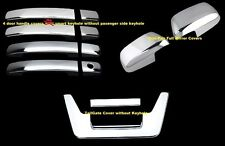 For 05~12 Nissan Frontier Chrome Full Mirror Tailgate 4 Door Handle Covers w/o s