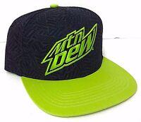 Mountain Dew Snapback Black&green Flat Bill Skateboard Surf Men/women/teen Mtn