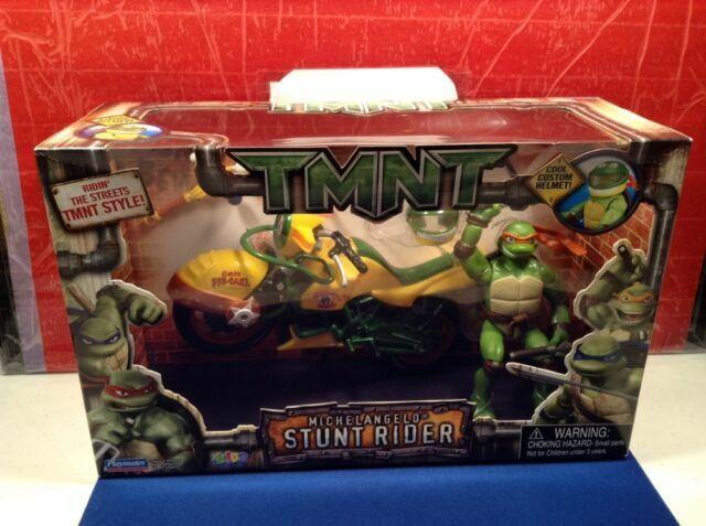 Tmnt 2007 Teenage Mutant Ninja Turtles Rare Stunt Rider Leonardo