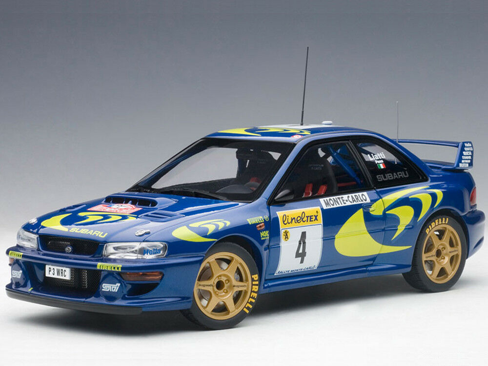 Autoart subaru impreza wrc 1997   4 rallye monte carlo 1,18 89790 blau