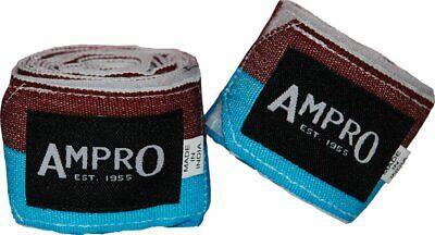 Ampro 4.5m Stretch Boxing Hand Wraps-claret & Blu Boxe/mma/450cm-mostra Il Titolo Originale Per Spedizioni Veloci