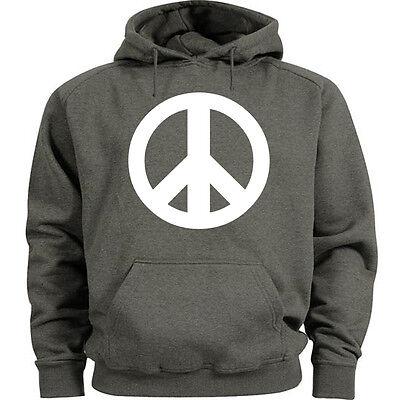 Big and tall sweatshirt hoodie peace sign symbol sweat shirt men/'s tall size