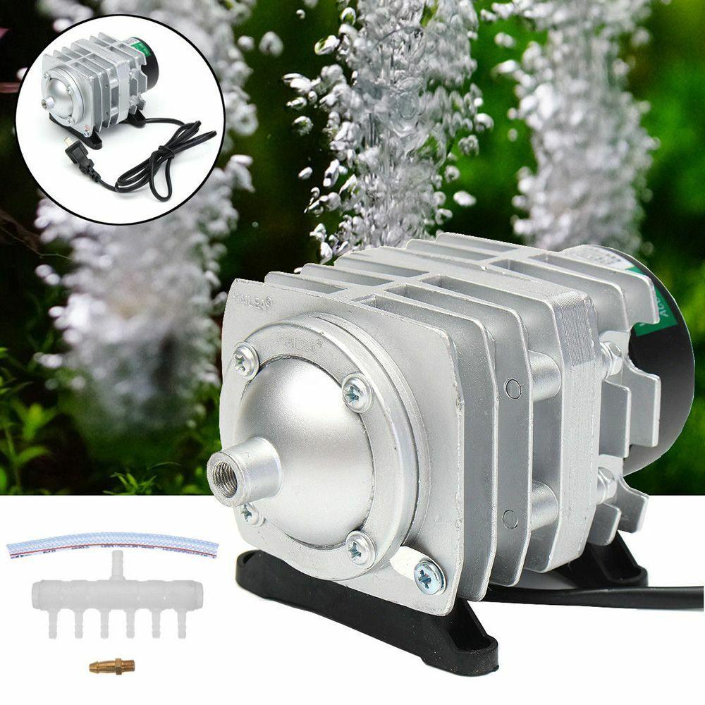 Fish Tank Supply Aquarium Oxygen Pump Electromagnetic Air Compressor Pond Pool