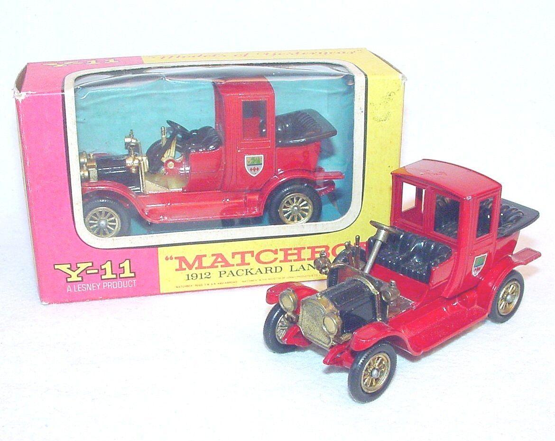 alta calidad y envío rápido Matchbox Matchbox Matchbox 1 50 modelos de antaño 1912 Packard Landaulet 2 versiones Y-11 MIB`65  Web oficial