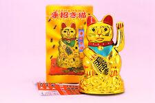 """Chinese Lucky Cat Waving Arm Good Luck 4.5"""" Feng Shui Japanese Maneki Neko"""