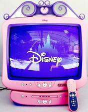 "Large Disney Princess Pink 19"" Television TV With DVD Player Remote RARE HTF!"