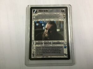 Star-Wars-Game-Card-DUO-Master-Qui-Gon-Lightsaber-Coruscant-Jedi-Light-Side
