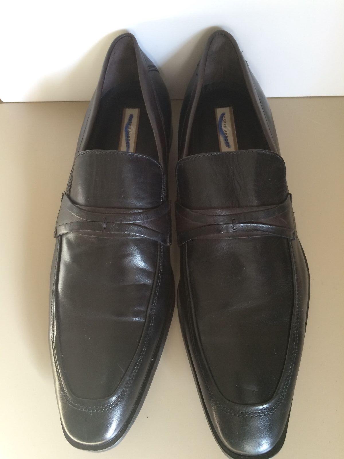 Joseph Abboud 10.5M Shoes Black Leather Split Toe Oxfords Lace Up Mens