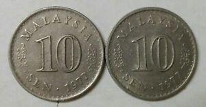 Parliament Series 10 sen coin 1977 2 pcs