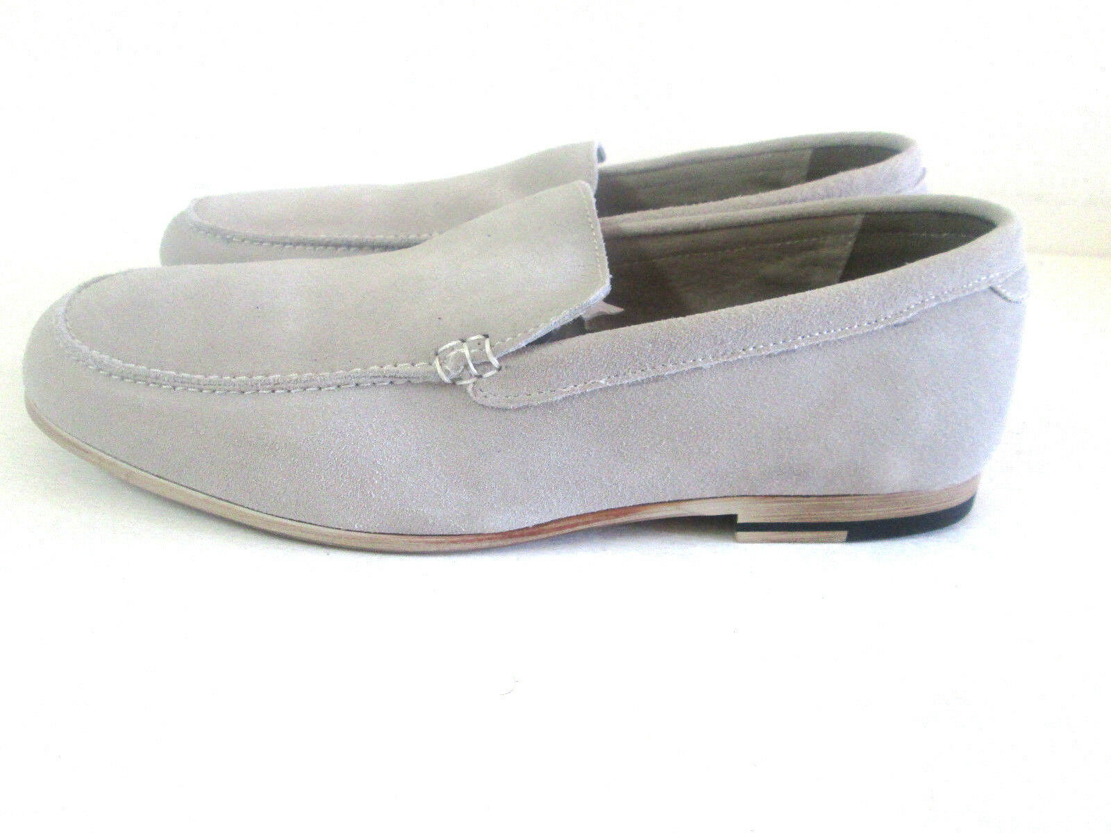 Scandro MenSand colorAll Soft LEATHER SUEDESlip-Onshoes Moccasin Loafer 5810
