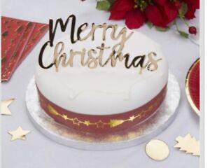 Oro Buon Natale Topper Per Torta Natale Decorazione Torte Natale