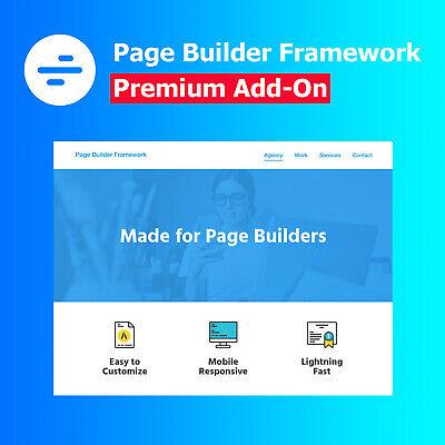 Page Builder Framework Premium Add-On Fast /& Minimalistic WordPress Theme