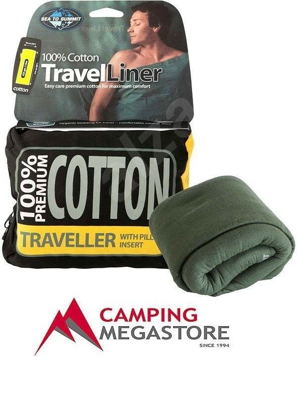 SEA TO SUMMIT COTTON TRAVEL LINER - TRAVELER WITH PILLOW