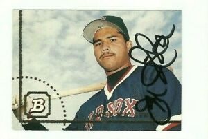 Jose-Malave-1994-Bowman-autographed-auto-signed-card-Red-Sox