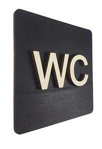 WC Schild Toilettenschild Toilette Türschild Damen Herren Holz Piktogramm Klo