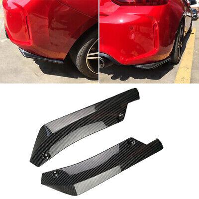 Car Carbon Fiber Rear Bumper Lip Diffuser Splitter Canard Protector Universal lu