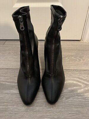 ZARA Black Mid Heel Pointed Toe Ankle