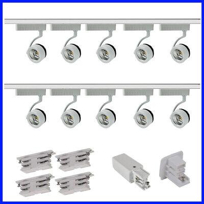 4 Spot Rail Lampe Éclairage DEL Circuit Unique Montage Lumière 2 M Chrome Brossé