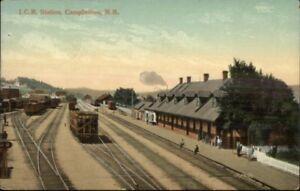 Campbellton-New-Brunswick-ICR-RR-Train-Station-Depot-c1910-Postcard