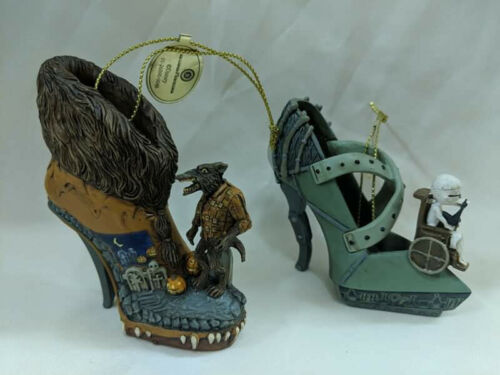 Hawthorn Disney Once Upon a Slipper Nightmare Before Christmas Shoe Ornaments #3