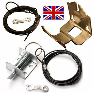 Details About Garage Door Lock Top Latch Cable Universal Spring Support Bracket Repair Kit