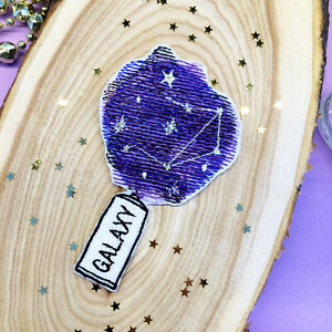 eb0136d0a Details about Galaxy Paint Universe Star Sky Nature Embroidered Iron On or  Sew On Patch DIY