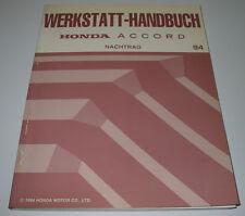 Werkstatthandbuch Honda Accord Motor Wartung Kühlung Getriebe Bremsen Karosserie