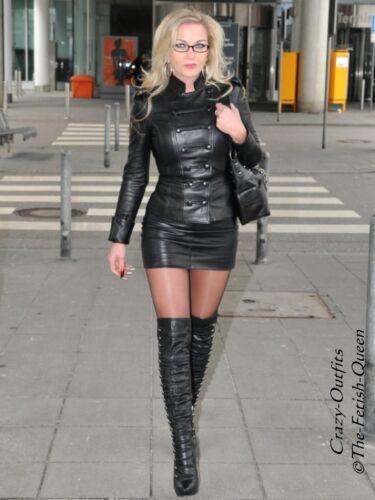 style cuir Veste cuir en Xxxl noir Veste 3258 en XS Taille boutonnᄄᆭ rQCexoWdB