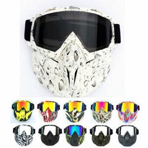Winter-Snow-Sports-Face-Mask-Shield-Ski-Snowboard-Snowmobile-MTB-Goggles-Glasses