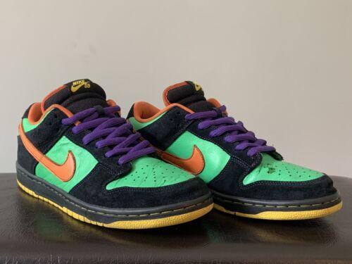 Nike SB Dunk Low Size Green Spark Hoop Orange Hall