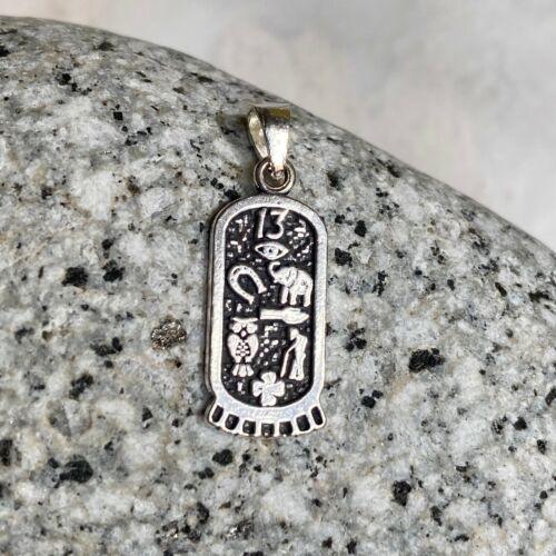 Sterling Silver Antique Bonne Chance Charme symboles Tag Pendentif Charme nouveau mini taille
