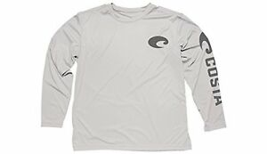 Pick Size-Free Ship UPF 50 Costa White Technical Performance Fishing Shirt