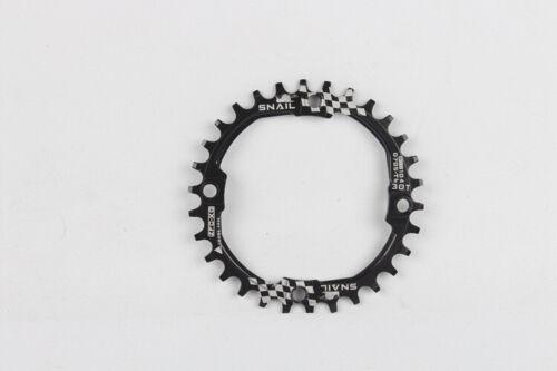 SNAIL Bike Chainring Round 30T MTB Mountain Bike Narrow Wide Chain Ring 104BCD
